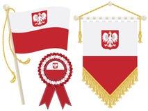 flags poland Royaltyfri Bild