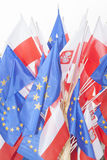 Flags of Poland and European Union Royalty Free Stock Image