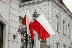 Flags of Poland Royalty Free Stock Photos