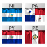 Flags in polygonal style Stock Images