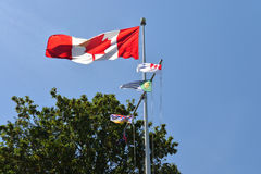 Flags at Prospect Point, Vancouver Royalty Free Stock Photo