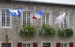 Flags of Quebec Stock Photos
