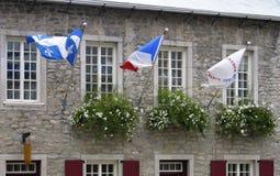 Flags of Quebec Stock Photos