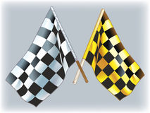 Flags rally. Black and white and black and yellow flags Stock Illustration