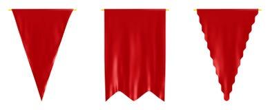 flags red Royaltyfria Bilder
