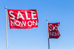 Flags Red Blue Sale Stock Images