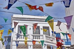 Flags religion in Mykonos Royalty Free Stock Photos
