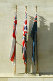 Flags of remembrance Stock Image