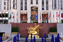 Flags of Rockefeller Center New York Stock Images