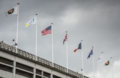 Flags on Roland Garros Royalty Free Stock Images