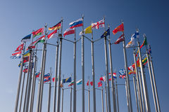 Flags round royalty free stock images
