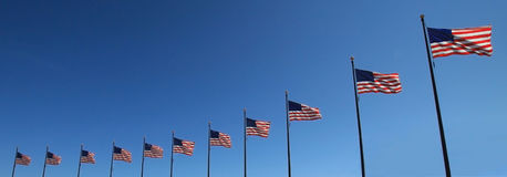 Flags in a row Royalty Free Stock Images