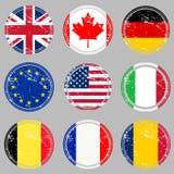 flags rubber stämplar Arkivfoto