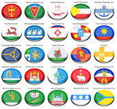Flags of the Russian cities. Set of icons. Flags of the Russian cities Royalty Free Stock Images