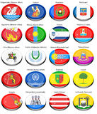 Flags of the Russian cities Royalty Free Stock Photography