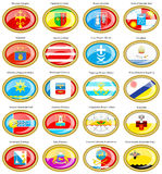 Flags of the Russian cities (Southern Federal District) Royalty Free Stock Photos