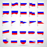 Flags of Russian Royalty Free Stock Photo