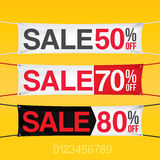 Flags with sale discount Stock Images