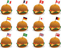 Flags on Sandwiches Stock Photography