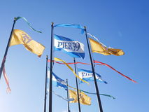 Pier 39 flags in San Francisco Royalty Free Stock Images