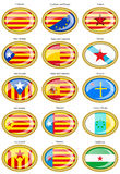 Flags of separatist movements within Spain Stock Image