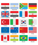 Flags set Stock Photos