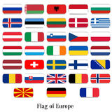 Flags set of Europe Royalty Free Stock Photos