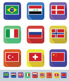 Flags Set Royalty Free Stock Photos