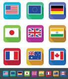 Flags Set Royalty Free Stock Photo