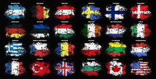 Flags set Stock Photos