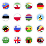 Flags set of the world Stock Photo