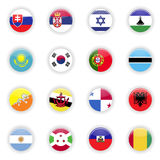 Flags set of the world Stock Photography