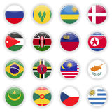 Flags set of the world Royalty Free Stock Photo