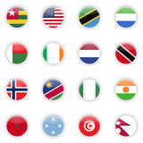 Flags set of the world Royalty Free Stock Photography