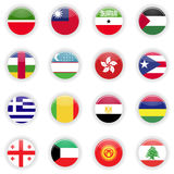Flags set of the world Royalty Free Stock Image