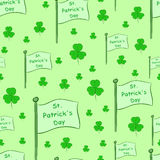 Flags with shamrocks Stock Images