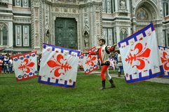 Flags show in Florence Stock Photos