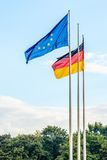 Flags in the sky Royalty Free Stock Photo