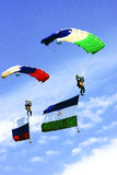 Flags in the sky Royalty Free Stock Photos
