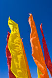 Flags skyline Stock Images