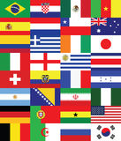Flags for soccer championship 2014. Set royalty free illustration