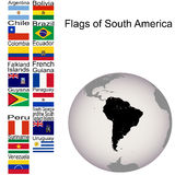 Flags of South America Stock Photography