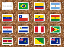 Flags of south america Stock Photos
