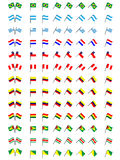 Flags of South America (No Coats of Arms) Royalty Free Stock Photos