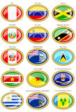 Flags of the South and Central America Stock Image