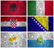 Flags of South Europe part 1 Royalty Free Stock Photo