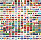 Flags of Sovereign States, Regions and Territories stock illustration