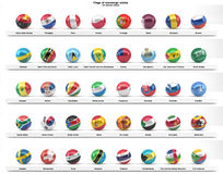 Flags of sovereign states (series) Royalty Free Stock Photos