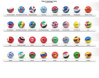 Flags of sovereign states (series) Royalty Free Stock Photo