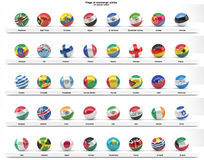 Flags of sovereign states (series) Stock Photos